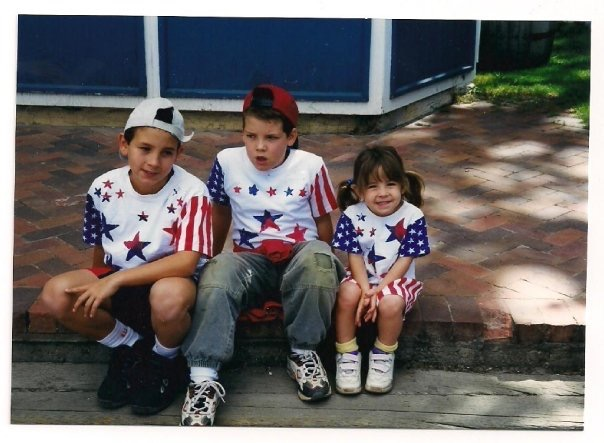 My brothers and I on July 4th circa 1999